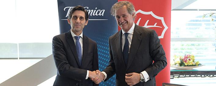 Acciona y Telefónica firman un acuerdo para el suministro de energía eléctrica renovable