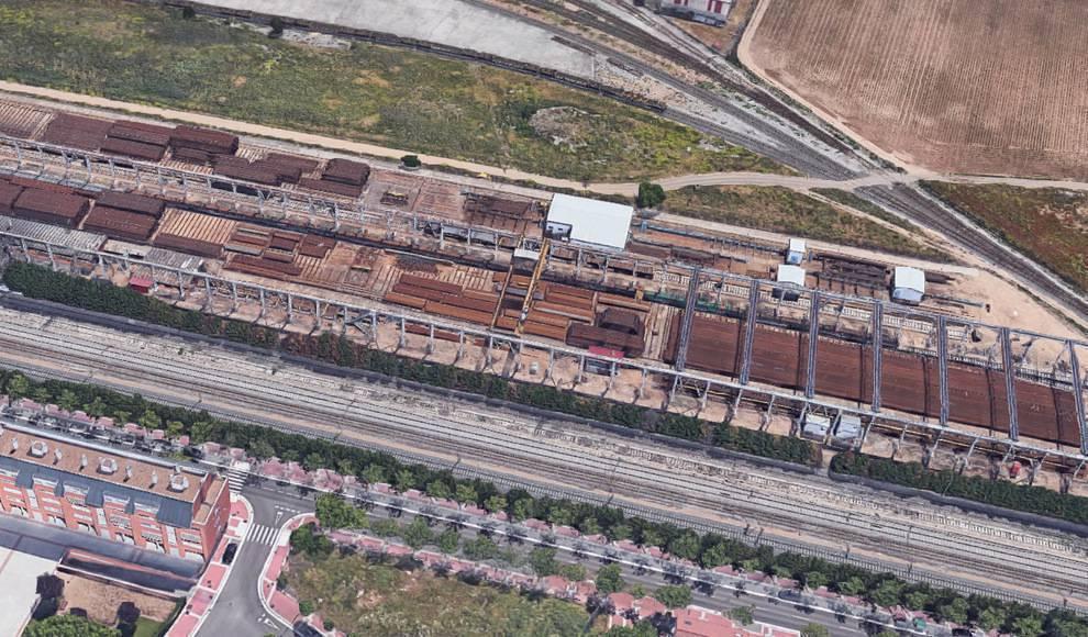 Adif licita la renovación de vía en el Polígono de Argales (Valladolid)