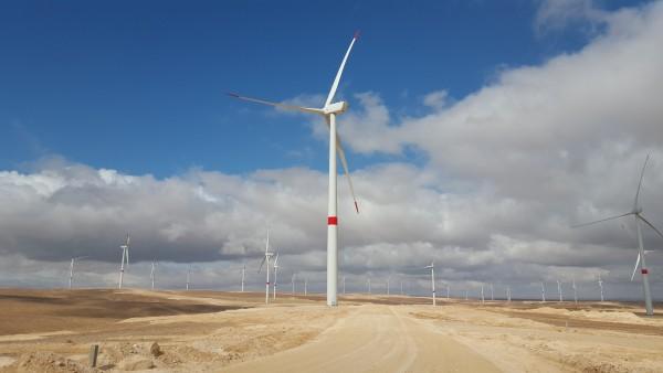 Elecnor se adjudica la construcción de un parque eólico en Jordania de 100 MW